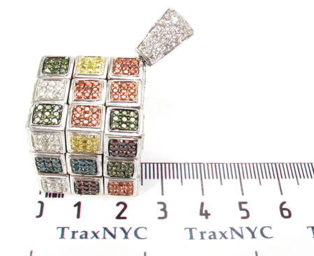 Custom Rubik's Cube Diamond Pendant Metal