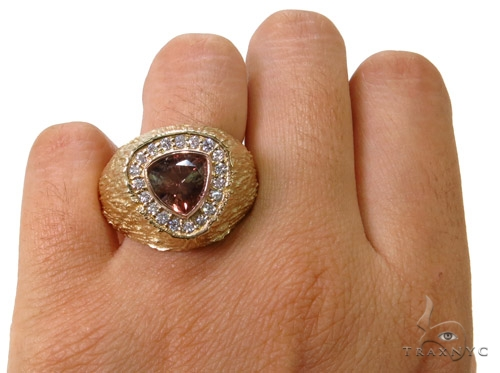 Custom Smoky Quartz Diamond Ring Stone