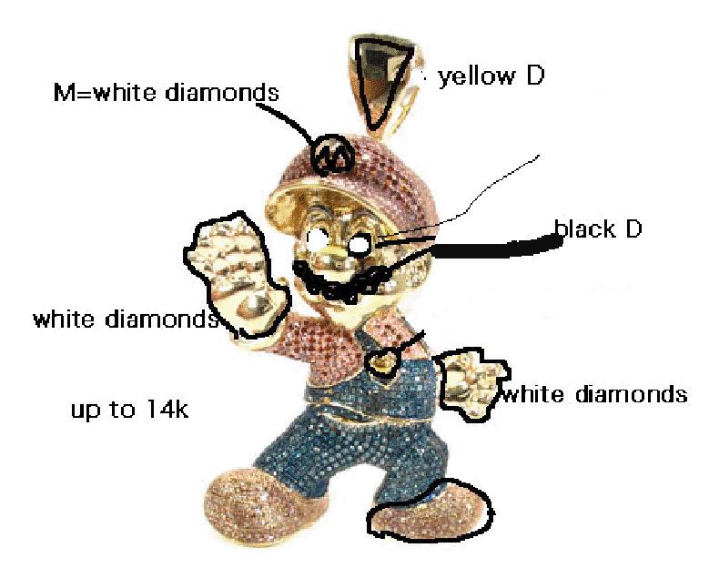 Custom Super Mario Pendant Metal