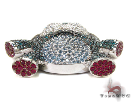 Custom Sushi Diamond Pendant Metal