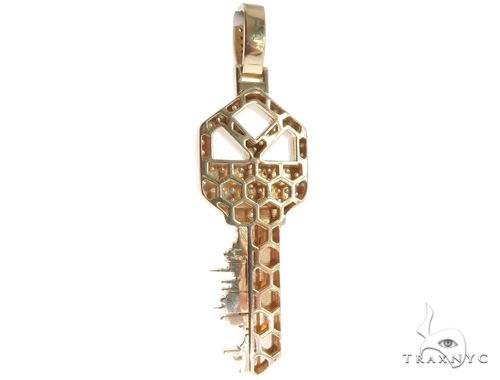 Custom Tokyo Skyline Key Diamond Pendant 64015 Metal
