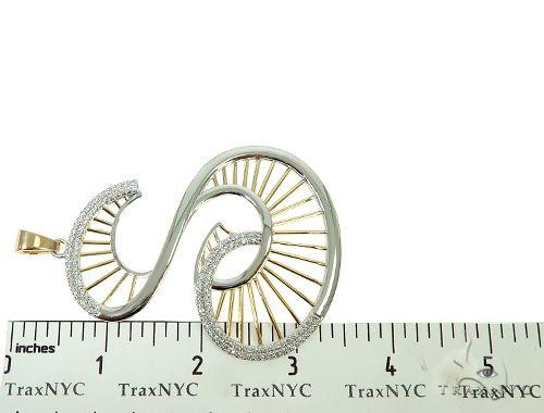 Custom TowToned Initial S Pendant 65876 Metal