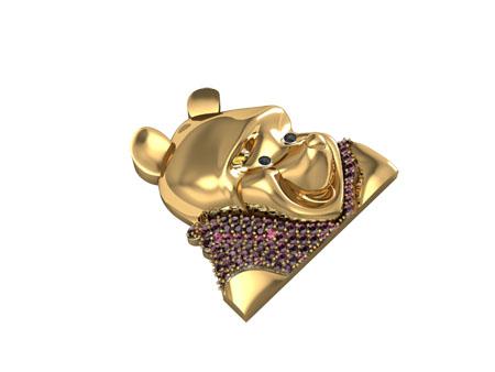 Custom Winnie the Pooh Pendant Metal