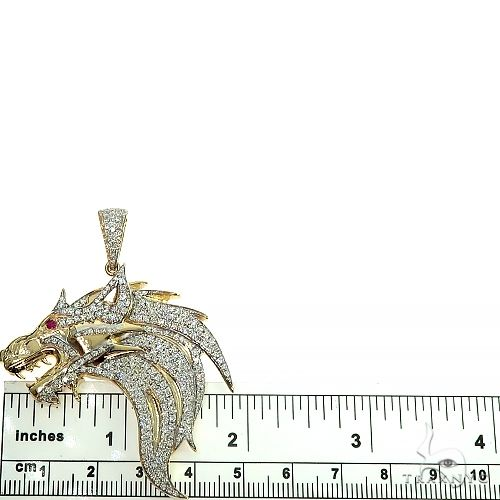 Custom made Diamond Firewolf Pendant 66455 Metal