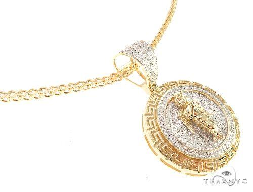 Diamond Angel Pendant Franco Chain Set 65139 Style