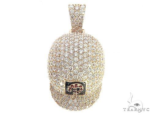 Diamond Baseball Hat Pendant 65500 Metal