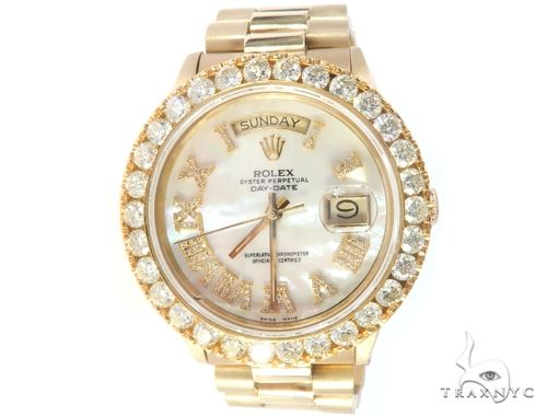 Diamond Bezel 18K Yellow Gold Rolex Presidential Watch 65501 Diamond Rolex Watch Collection