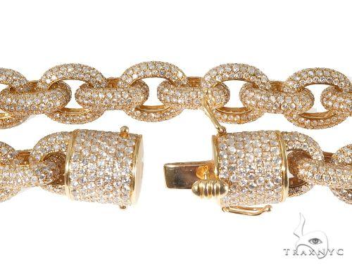 Diamond Cable Link Chain with Custom Lock Diamond