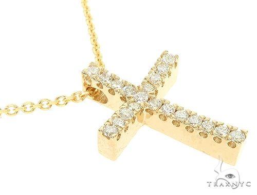 Diamond Cross Necklace Set 65878 Diamond