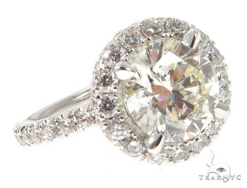 Diamond Engagement Halo Rings Set 64004 Engagement