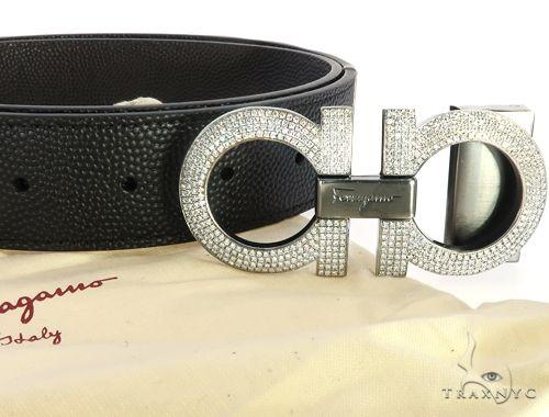 Diamond Ferragamo Belt Buckle 65041 Metal