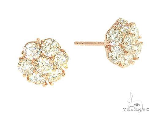 Diamond Flower Stud Earrings 65870 Stone