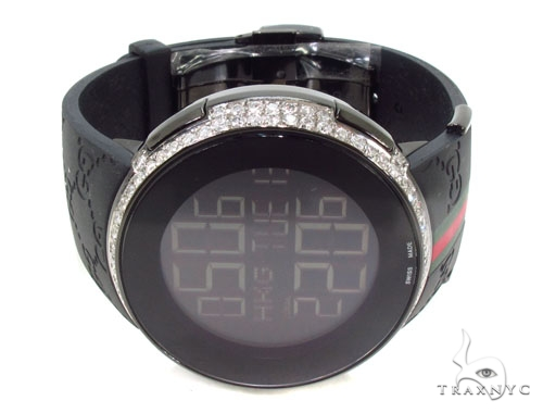 Diamond Half Iced Digital Gucci Watch Gucci
