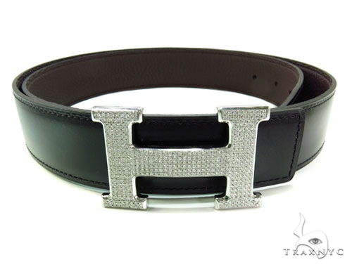 Diamond Hermes Belt Buckle Metal