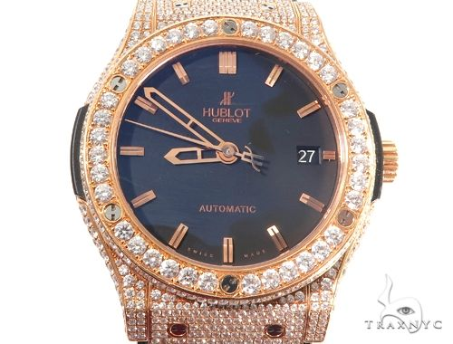Diamond Hublot Watch Classic Fusion with Rubber Band 64054 Hublot
