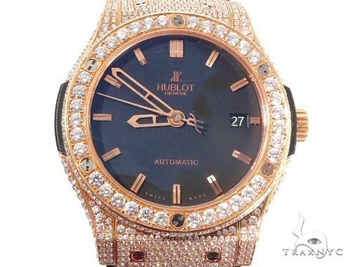 Diamond Hublot Watch Classic Fusion with Rubber Band 64054 Hublot