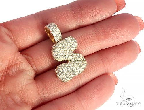 Diamond Initial Letter S Pendant 65644 Style