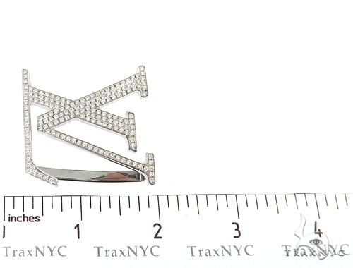 Diamond Louis Vuitton Belt Buckle 65042 Metal
