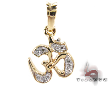 Diamond Om Pendant Stone