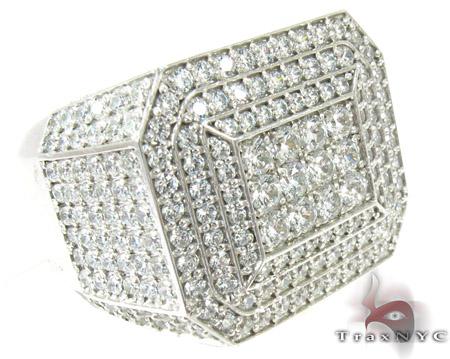 Mens Indulgence Silver Ring 40520 Metal