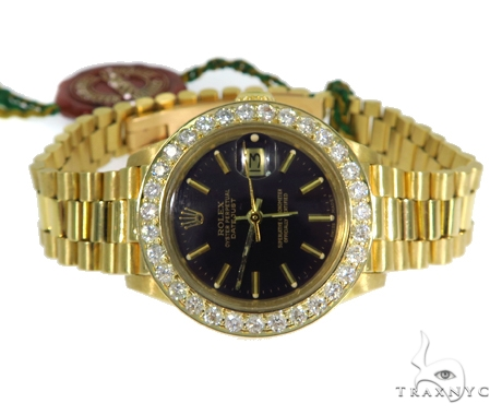 Diamond Rolex Datejust Lady Yellow Gold Watch 179178 45409 Rolex Collection