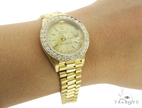 Diamond Rolex Datejust Lady Yellow Gold Watch 56565 Rolex Collection