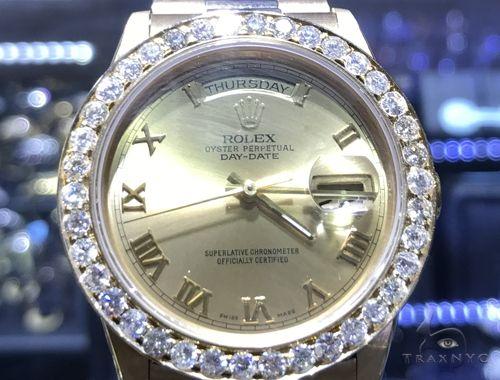 Diamond Rolex Day Date 63862 Diamond Rolex Watch Collection