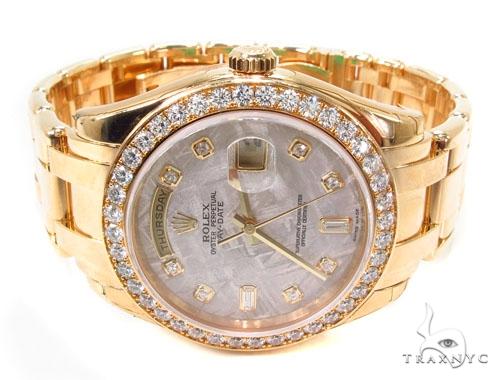 Diamond Rolex Day-Date Masterpiece 18K Gold Watch 36603 Diamond Rolex Watch Collection