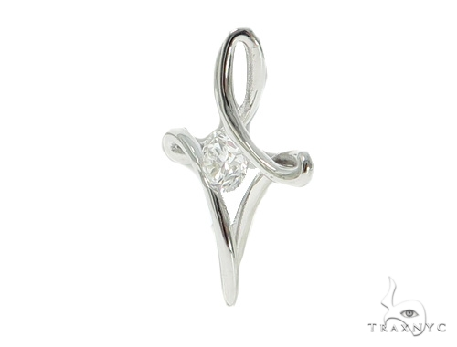 Diamond Solitaire Infinity Cross Crucifix 45574 Stone