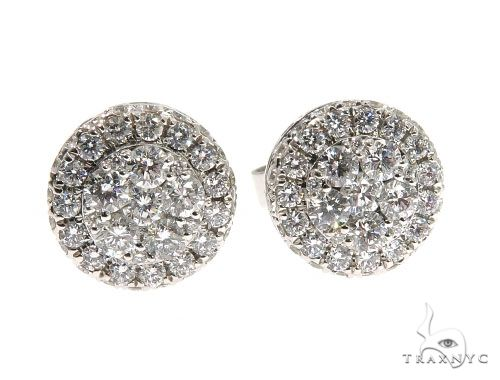Diamond Stud Earrings with Screw Backs 64123 Stone