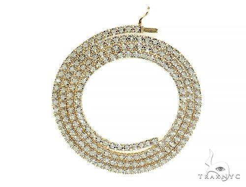 Diamond Tennis Chain 24 Inches 3mm 4.26ct 30.60 Grams Diamond