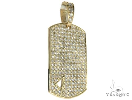 Diamond Triangle Dog Tag Pendant 45572 Style