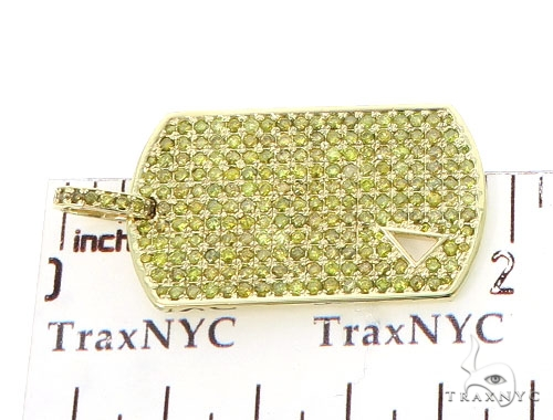 Diamond Triangle Dog Tag Pendant 45573 Style