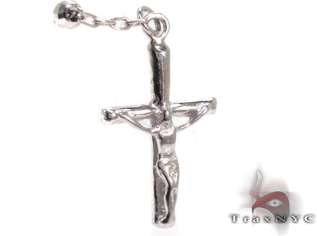 Dipped Iced Out Silver Rosary 18 Inches 3mm 7.8 Grams Silver