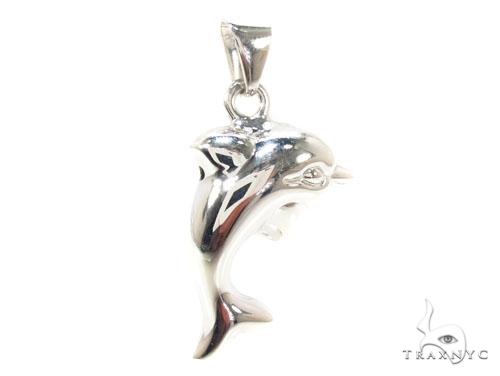 Dolphin Silver Pendant Metal