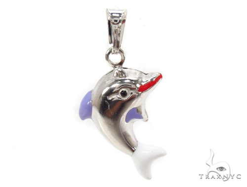 Dolphin Silver Pendant 36357 Metal