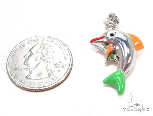 Dolphin Silver Pendant 36359 Metal
