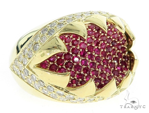 Dorado Diamond Ruby Ring 49771 Stone