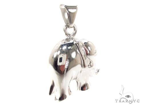 Elephant Silver Pendant 36339 Metal