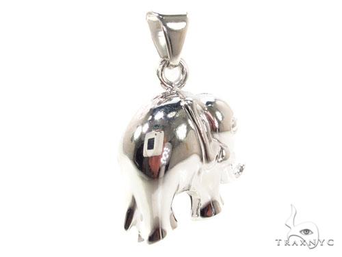 Elephant Silver Pendant 36340 Metal