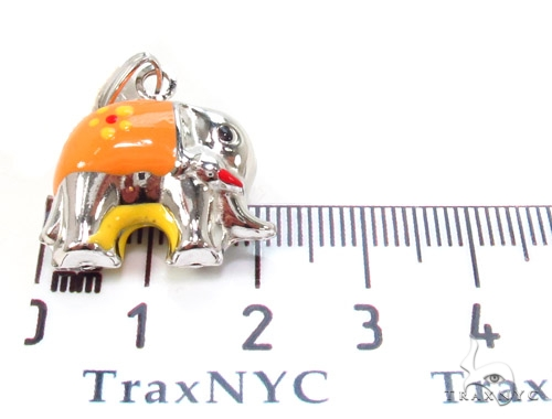Elephant Silver Pendant 36356 Metal