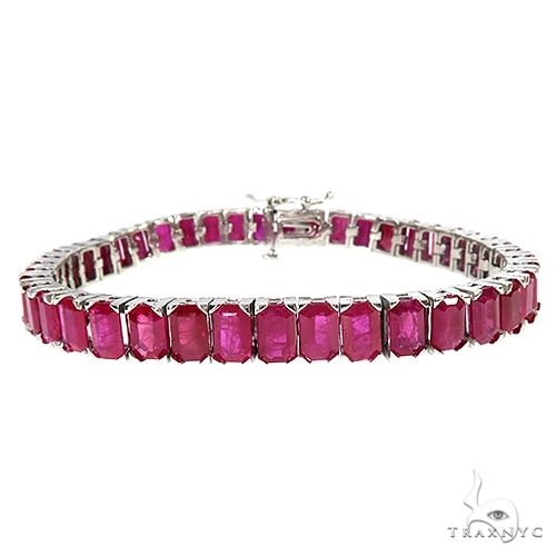 Emerald Cut Ruby Tennis Bracelet 66920 Gemstone