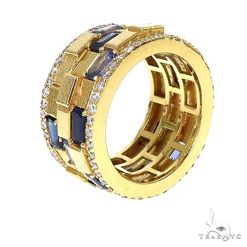 Emerald Cut Sapphire Diamond Brick Ring 67227 Multicolor SAPPHIRE