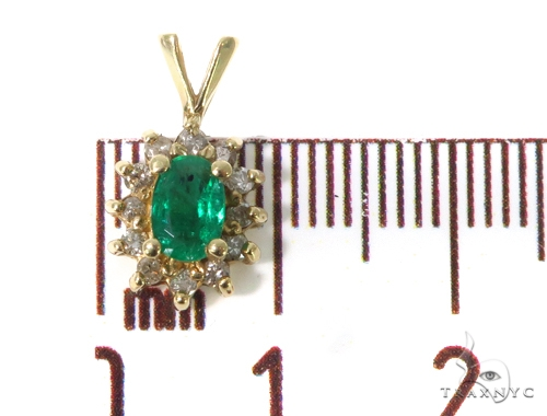 Emerald Diamond Pendant 49080 Stone