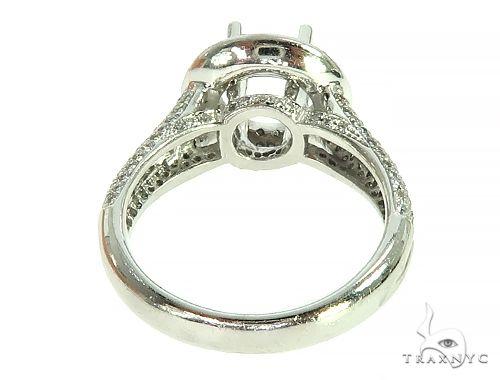 14K White Gold Diamond Semi Mount Engagement Ring 66144 Engagement