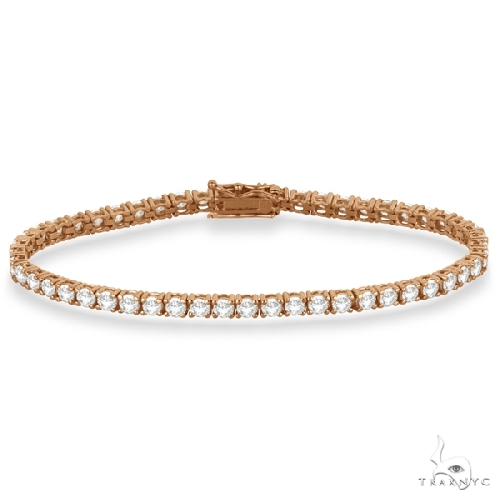 Eternity Diamond Tennis Bracelet 14k Rose Gold Diamond