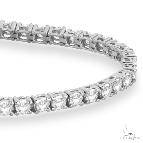 Eternity Diamond Tennis Bracelet 14k White Gold Diamond