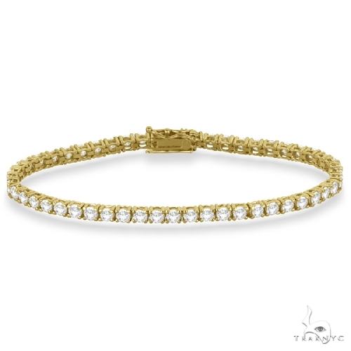 Eternity Diamond Tennis Bracelet 14k Yellow Gold Diamond