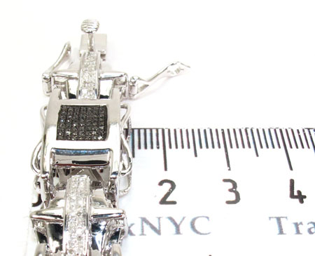 Mens Diamond Silver Bracelet Silver