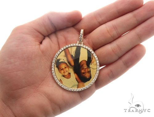14K Gold Custom Photo Pendant 2 Inch 64427 Metal